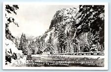 RPPC LAKE TAHOE Area, CA- STRAWBERRY LODGE & LOVERS LEAP 1947 Hwy 50  Postcard