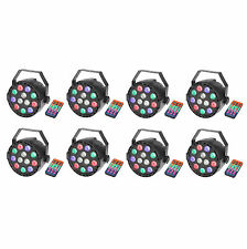 8 Pack Par Uplights 12Led Stage Stand DJ Lighting RGBW DMX512 Washing Can 8CH