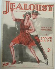 art cover piano solo JEALOUSY TANGO jacob gade , 1926