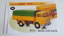 Dinky Toys Atlas - Fascicule SEUL du Berliet GAK Bâché (Booklet only)