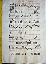Huge deco.Antiphonary Manuscript Lf.Vellum,unusual G initial,c.1500 #16