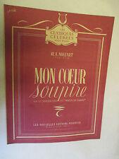 """Les Classiques Célèbres pour Piano  Mozart """"Mon coeur soupire"""" /Méridian"""