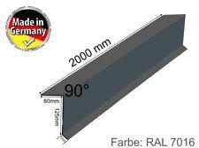 Ortgangwinkel Dach-Abschluss-Blech Ortgangblech Alu Anthrazit Grau 60 x 125 mm