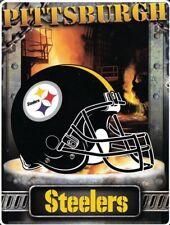 Pittsburgh Steelers NFL Aggression Raschel Plush 60x80 Twin Size Throw/Blanket
