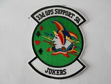 RAF/USAF squadron cloth patch  33d ops support sq  jokers