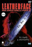 LEATHERFACE NON APRITE QUELLA PORTA III (1990) DVD EX NOLEGGIO EAGLE - RARO