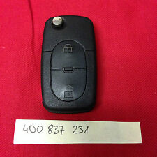 AUDI A3 A4 A6 A8 2 Buttons Remote Key Fob 4DO 837 231 4D0837231 free blade cut