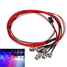 6 LEDs Light Set Headlight LED  Taillight for 1/10 RC Car Crawler 5mm/3mm #GD