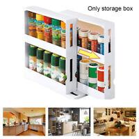 Rotating Shelf Spice Organizer Slide Kitchen Cabinet Cupboard Storage Rack WF
