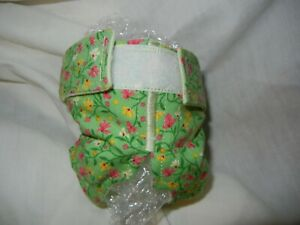 Female Dog Puppy Pet Diaper Washable Pants Sanitary Underwear GREEN FLOWERS XXXS