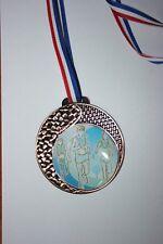 """Médaille """" Bronze """"  COURSES  avec ruban diamètre 70 mm poids 50 gr"""