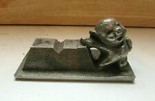 Vintage Porky Pig?? Desktop Paperweight/Pen Holder- Heavy Cast Metal -1930-40's?