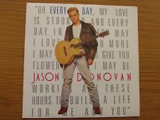 "JASON DONOVAN Every Day (I Love You More) 1989 UK 7"" VINYL SINGLE 1980s POP PWL"