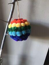 Rainbow Pom Pom Ball