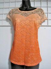 Cato Size Medium Lace Top in Orange Ombre