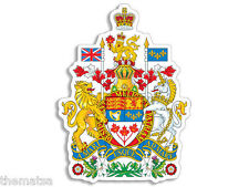 """CANADA CANADIAN COAT OF ARMS 4"""" HELMET BUMPER DECAL STICKER USA MADE"""