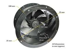 """Industrial Commercial Cased Extractor Duct Fan 300mm (12"""") Extremely Powerful"""