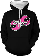 Fight Forever Infinity Pink Ribbon Breast Cancer Cure Two Tone Hoodie Sweatshirt