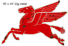 "Pegasus Flying Horse Reproduction Laser Cut Out Garage Shop Sign 14""x19"""