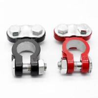 2x Universal Positive Negative Car Battery Terminals Clamp Clip Connector 17mm