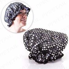 LUXURY LADIES SHOWER CAP Wet Hair Head Cover Bath Protector Hat Salon Womens