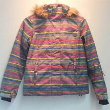Roxy Junior Jet Ski Insulated Snowboard Winter Jacket Multi Color Girls 16 NEW