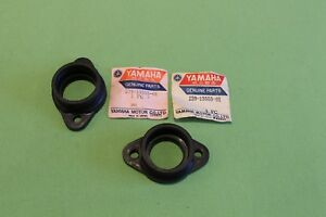 2 New Yamaha TR2 carburettor intake inlet manifold joint. 239-13555-01