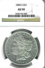 1884-S Morgan Dollar :  NGC AU50