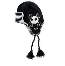 NIGHTMARE BEFORE CHRISTMAS Jack Skellington LAPLANDER HAT Striped Beanie CAP