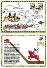 Erinnerungskarte Bund/Berlin Postreiter 500 Jahre Post