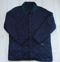 "Barbour Liddesdale ""XL"" Navy Quilted Mens Jacket Herren Jacke"