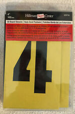 "4"" Stencil 839726 Hillman Hardware Signs Letters Numbers Punctuation Stencils"