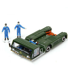 Metal 13CM Military Aircraft Static Model Tractors Vehicle Trailer Towing Car