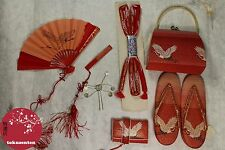 LOT 7 JAPONAIS TRADITIONNEL GEISHA MAIKO KIMONO VINTAGE MADE IN JAPAN AUTHENTIC