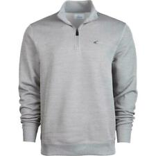 Greg Norman Mens Sweater Gray US Large L 1/2 Zip Herringbone Pullover $70 #015