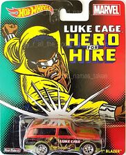 2014 Hot Wheels Marvel Luke Cage Hero For Hire 70 Chevy Blazer Diecast Model Car