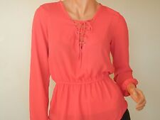 ROMEO & JULIET COUTURE CORAL RED BLOUSE SIZE S
