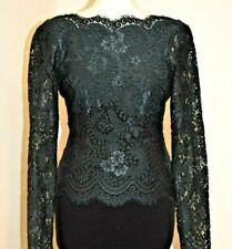 TED BAKER VENDELA GREEN LACE & BLACK OCCASION DRESS UK 8 TED 1 US 4 BNWT RRP£169