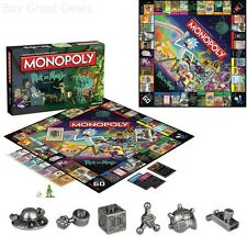 Monopoly Rick and Morty Board Game from Adult Swim TV Show