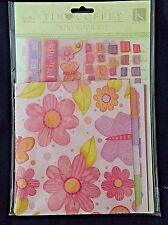 Tim Coffey Scrapbook Kit Mini Photo Book Pink Floral Girls K & Company 100 New