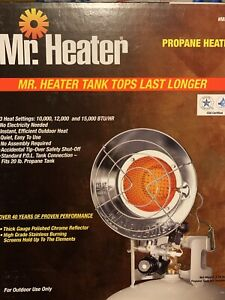 Mr. Heater Single Tank Propane Heater 10,000 12,000 15,000 BTU Patio Outdoors