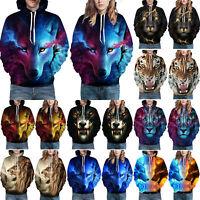 3D Animal Graphic Mens Womens Hoodie Sweater Sweatshirt Jacket Coat Pullover Top