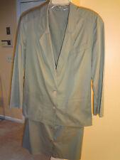 VTG  Basler Made in W. Germany Cotton Skirt Suit Olive Green size 10 (40 eur)
