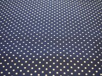 Swiss Dots by The RBD Designers Riley Blake  Fabric FQ or More Navy 100% Cotton