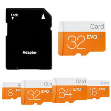 32GB MicroSD C10 TF Flash Memory Card w/ SD Adapter can As Disk For Phone Camera
