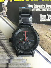 Nixon 51-30 Chrono Black Red Men's Wrist Watch A083-2298