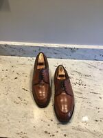 EUC Mens Allen Edmonds Stockbridge Shoes, Sz 9.5D, Walnut Brown, No Inserts