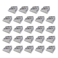 24 Pcs Mini Double Hole Pencil Sharpener Stainless Steel Pencil Sharpener Silver
