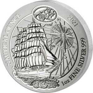 HMS Sedov 2021 1 oz Silver UNC Nautical Ounce Rwanda