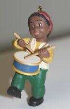 1993 African-American Drummer boy keepsake ornament by Hallmark no box excellent